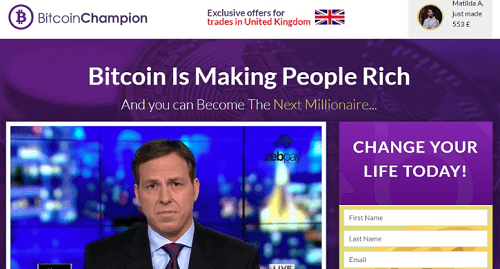 Bitcoin Champion ¿Es estafa?