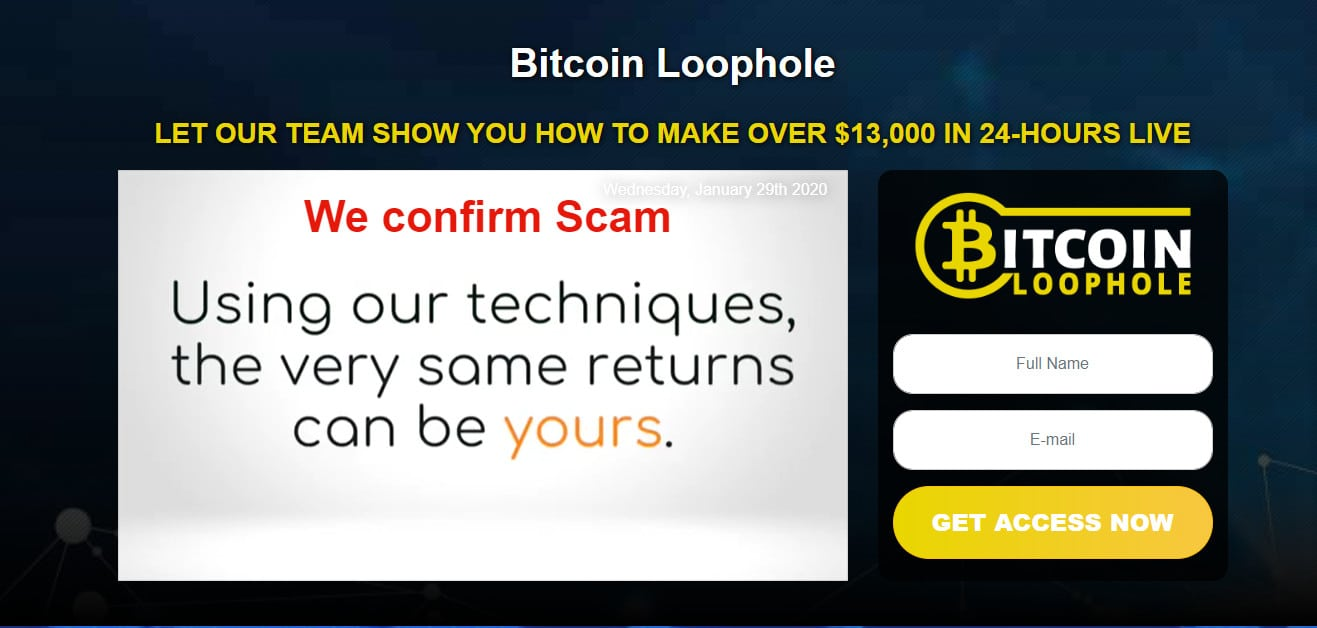Bitcoin Loophole Is it scam?