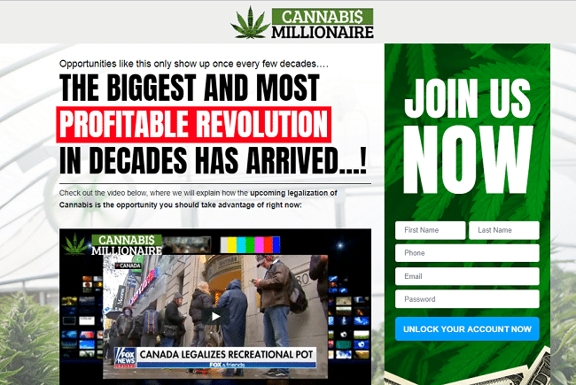 Cannabis Millionaire Is it scam?