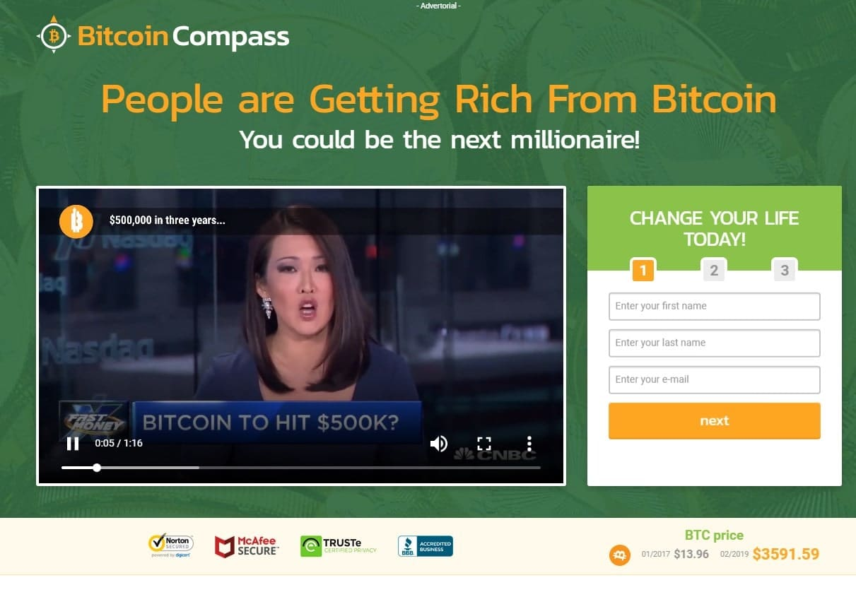 Bitcoin Compass ¿Es estafa?