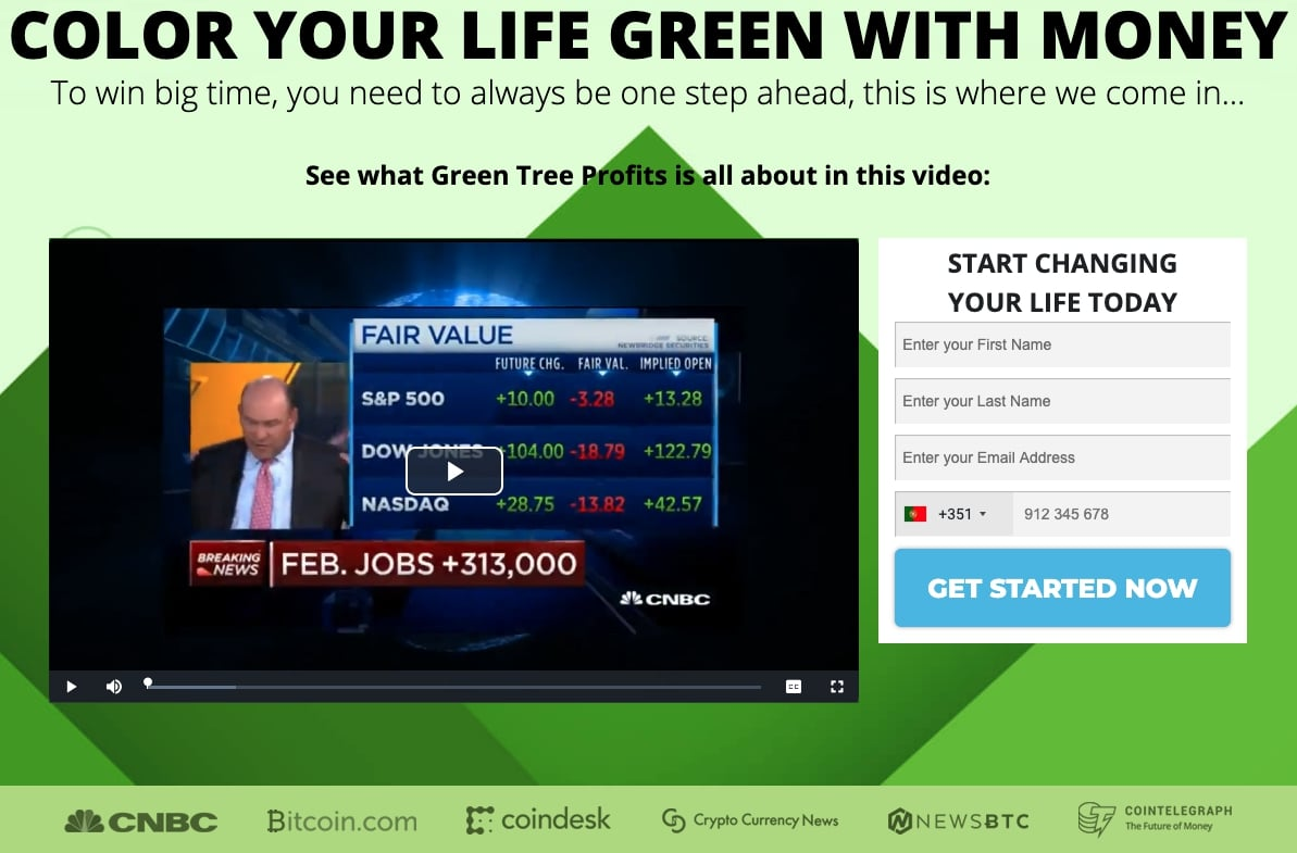 Green Tree Profits Je to prevara?